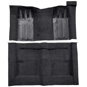 OER 69-70 Torino 2-Dr HT/Ranchero GT Auto Loop Carpet Kit w/ Medium Blue Inserts Black F9215001