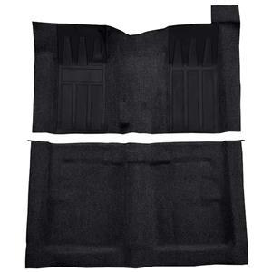 OER 69-70 Torino 2-Dr HT/Ranchero GT 4-Speed Loop Carpet Kit w/ Dark Blue Inserts Black F9215201