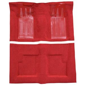 OER 69-71 Torino GT Convertible Automatic - Loop Carpet Kit w/ 2 Red Inserts - Red F9215602