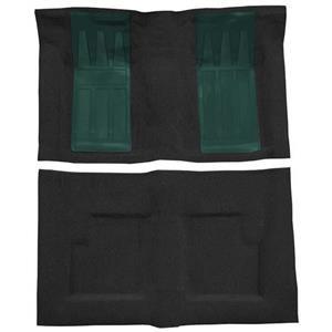 OER 69-71 Torino GT Convt Automatic - Loop Carpet Kit w/ 2 Aqua Inserts - Black F9215701