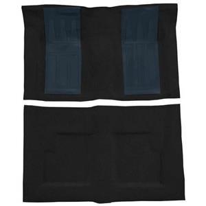 OER 69-71 Torino GT Convt Automatic - Loop Carpet Kit w/ 2 Dark Blue Inserts - Black F9215801