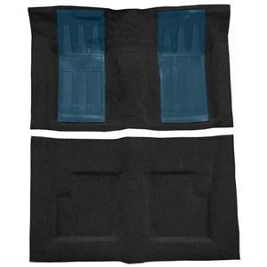 OER 69-71 Torino GT Convt Automatic Loop Carpet Kit w/ 2 Medium Blue Inserts Black F9216001