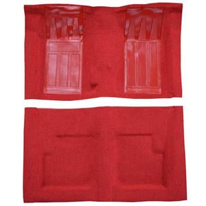OER 1969 Ford Torino GT Convertible 4-Speed - Loop Carpet Kit w/ 2 Red Inserts - Red F9216302