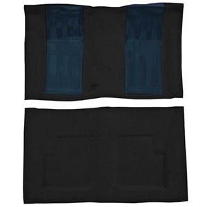 OER 69 Torino GT Convt 4-Speed - Loop Carpet Kit w/ 2 Dark Blue Inserts - Black F9216501