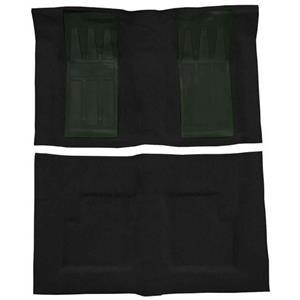 OER 69 Torino GT Convt 4-Speed - Loop Carpet Kit w/ 2 Dark Green Inserts - Black F9216601