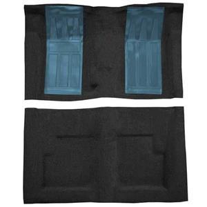 OER 69 Torino GT Convertible 4-Speed Loop Carpet Kit w/ 2 Medium Blue Inserts Black F9216701