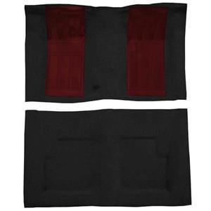 OER 69 Torino GT Convertible 4-Speed - Loop Carpet Kit w/ 2 Maroon Inserts - Black F9216801