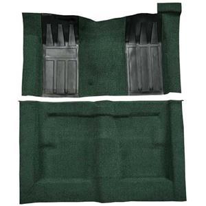 OER 69-70 Torino 2-Dr HT/Ranchero GT Auto Loop Carpet Kit w/ Dark Green Inserts Dark Green F9217013