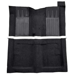OER 69-70 Torino 2-Dr HT/Ranchero GT 4-Speed Loop Carpet Kit w/ Medium Blue Inserts Black F9218101