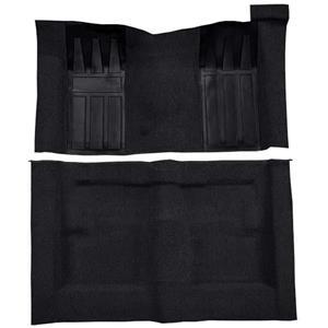 OER 69-70 Torino 2-Dr HT/Ranchero GT Auto Loop Carpet Kit w/ Maroon Inserts Black F9218301