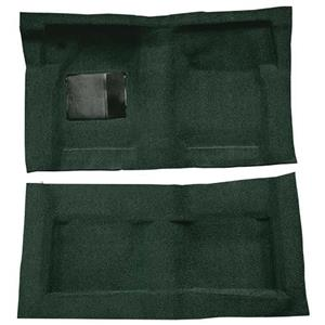 OER 65-68 Galaxie Fastback/Convt w/ Col Shift - Molded Loop Carpet Kit - Dark Green F9220713