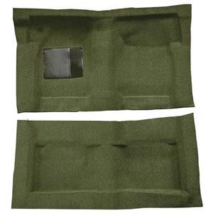 OER 65-68 Galaxie Fastback/Convt w/ Col Shift - Molded Loop Carpet Kit - Moss Green F9220719
