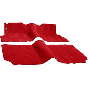 OER 1957 Chevrolet 4 Door Hardtop With Bench Red Molded Cut Pile Carpet Set TF116802