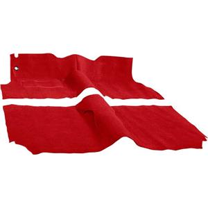 OER 1957 Chevrolet 4 Door Sedan With Bench Flame Red Molded Cut Pile Carpet Set TF117077