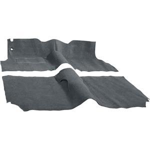 OER 57 Chevy 2 Door Station Wagon W/ Buckets Dark Grey Molded Cut Pile Carpet Set TF117347