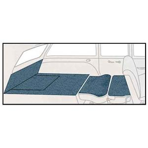 OER 57 Chevy 2-Dr Station Wagon 5 Piece Bright Blue Loop Rear Cargo Area Carpet Set TF117704