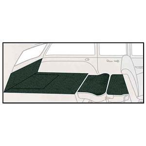 OER 55-56 Chevy 2Dr Station Wagon 5 Piece Dark Green Loop Rear Cargo Area Carpet Set TF117713