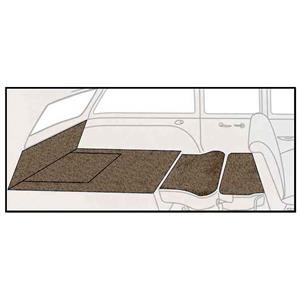 OER 55-57 Chevy 2 Dr Station Wagon 5 Piece Medium Saddle Loop Rear Cargo Area Carpet Set TF117717