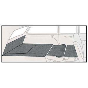 OER 57 Chevy 2Dr Station Wagon Gunmetal Grey 5 Piece Loop Rear Cargo Area Carpet Set TF117735