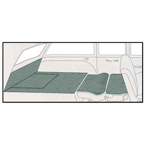 OER 57 Chevy 2 Dr Station Wagon 5 Piece Light Green Loop Rear Cargo Area Carpet Set TF117742