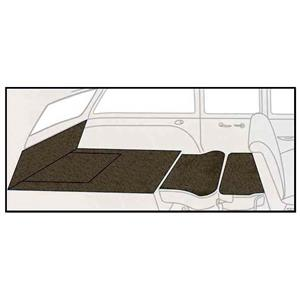 OER 55-57 Chevy 2Dr Station Wagon 5 Piece Dark Brown Loop Rear Cargo Area Carpet Set TF117771
