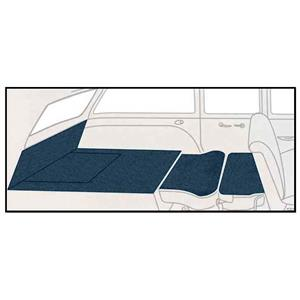 OER 55-57 Chevy 2 Dr Station Wagon 5 Piece Dark Blue Cut Pile Rear Cargo Area Carpet Set TF117812