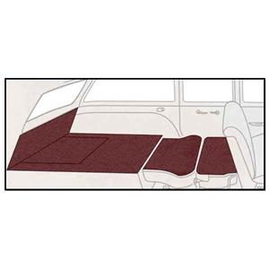 OER 55-57 Chevy 2Dr Station Wagon 5 Piece Maroon Cut Pile Rear Cargo Area Carpet Set TF117815