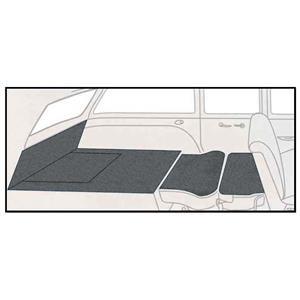 OER 55-57 Chevy 2 Dr Station Wagon 5 Piece Graphite Cut Pile Rear Cargo Area Carpet Set TF117833