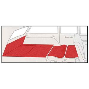 OER 55-57 Chevy 2 Dr Station Wagon 5 Piece Torch Red Cut Pile Rear Cargo Area Carpet Set TF117891