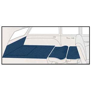 OER 55-56 Chevy Station Wagon Blue Daytona Weave 5 Piece Rear Cargo Area Carpet Set TF117904