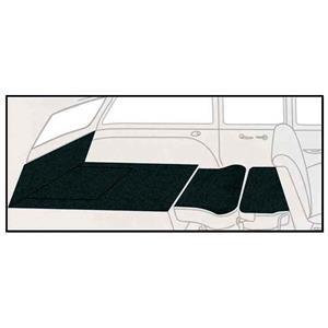 OER 55-56 Chevy Station Wagon Dark Green Daytona Weave 5 Piece Rear Cargo Area Carpet Set TF117913