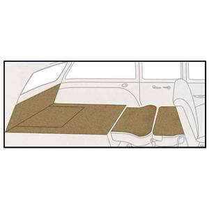 OER 55-56 Chevy Station Wagon Beige Daytona Weave 5 Piece Rear Cargo Area Carpet Set TF117928