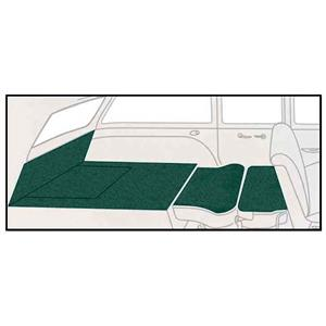 OER 55-56 Chevy Station Wagon Light Green Daytona Weave 5 Piece Rear Cargo Area Carpet Set TF117942