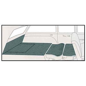 OER 55-57 Chevrolet Nomad Aqua 5 Piece Loop Rear Cargo Area Carpet Set TF118006