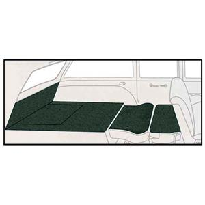 OER 55-56 Chevy Nomad Dark Green 5 Piece Loop Rear Cargo Area Carpet Set TF118013