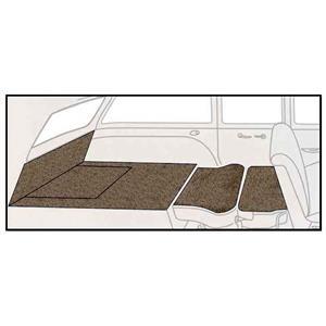 OER 55-57 Chevy Nomad Medium Saddle 5 Piece Loop Rear Cargo Area Carpet Set TF118017