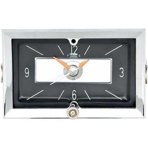OER 1957 Chevrolet In-Dash Clock with Quartz Movement ; Black Face 3733684