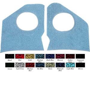 OER 1964 Impala / Full Size Without A/C Midnight Blue Kick Panel Carpet 5310766