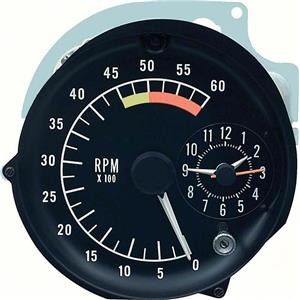 OER 1976-78 Firebird Tachometer / Clock In Dash Gauge Assembly ; 6000 Redline 5659065