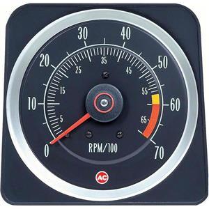 "OER 1969 Camaro Tachometer ; 6000 Red Line ; 396/375HP, 427 ; 6"" X 7"" 6469383"