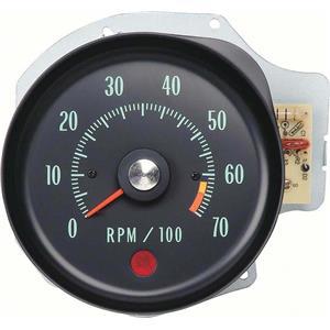 OER 1970 Chevelle SS / Monte Carlo Tachometer ; 6500 rpm Redline 6469983