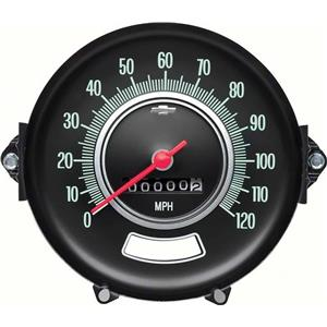 OER 1969 Chevelle Speedometer ; 120 MPH ; without Speed Warning 6492542