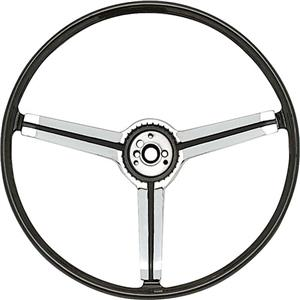 OER 1967 Z87 Deluxe Steering Wheel with Spokes and Polished Chrome Spider Insert 9746436