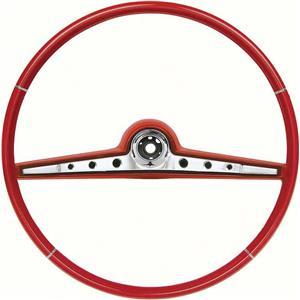 "OER 1962 Impala Steering Wheel; Standard and SS ; Red ; 17"" Wheel 768149"