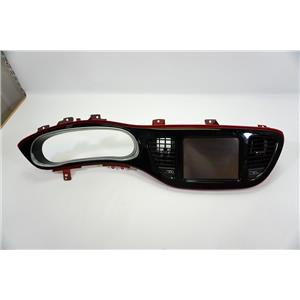 2013-2015 Dodge Dart Dash Trim Bezel with LCD Screen and Vents Red Silver Trim