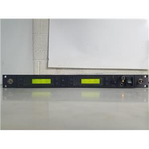 SHURE UHF MODEL U4D-M4 662-692MHZ DUAL CHANNEL WIRELESS RECEIVER