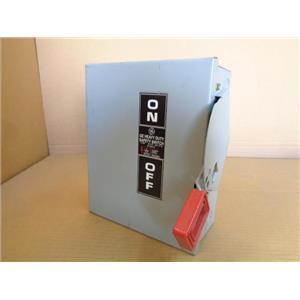 GENERAL ELECTRIC GE THN3361 SAFETY SWITCH, 30 AMP 600V AC 250V DC NP 266212-D