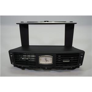 "2011-2013 Infiniti M37 M56 Center Dash Radio 8"" Bezel with Vents and Clock"