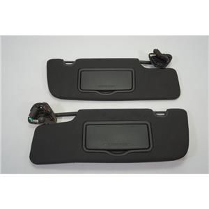 2010-2014 Ford Mustang Coupe Sun Visor Set Pair Lighted Mirrors Paper Holder