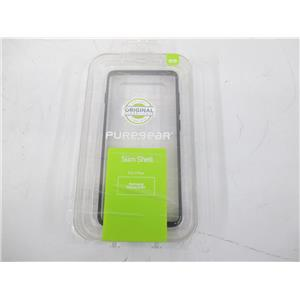 PURE GEAR Samsung 62729PG Galaxy S10 Plus Slim Shell Case - Clear/Black - NEW